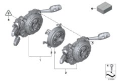 Switch cluster steering column
