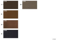 Sample page, cushion colours, leather