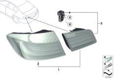 Retrofit kit, rear lights 'White Line'