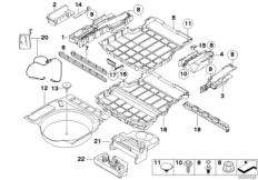 Trunk floor compartment