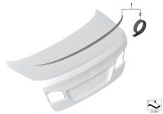Retrofit, M rear spoiler