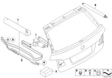 Trunk lid hydraulic parts