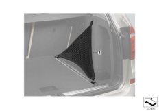 Luggage compartment net, lateral