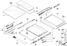 Panorama sunroof, mechanism