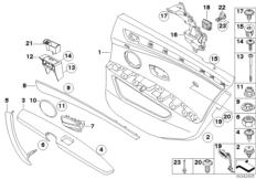 Door trim panel rear / Side airbag