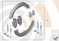 Service kit, brake shoes / Value Line