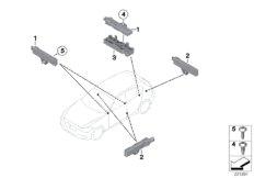Single parts, aerial, comfort access