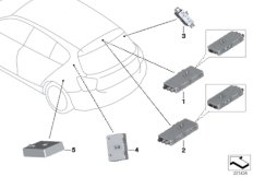 Components, antenna amplifier