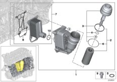 Lubricat.syst.-oil filter,heat exchanger