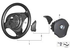Steering wheel, leather