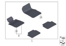 Floor mats velours