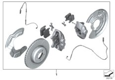 Set, M Performance brake, front/rear
