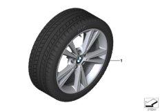 Winter wheel&tyre, double spoke 385