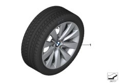 Winter wheel&tyre, V-spoke 413