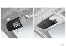 Glasses/CD/DVD pocket, BMW Lines