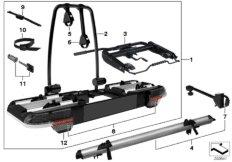 Bicycle rack, trailer coupling