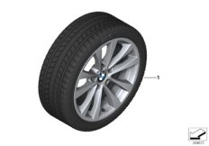 Winter wheel&tyre, V-spoke 395