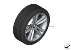 Winter wheel&tyre, double spoke 397