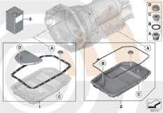 Fluid change kit, autom. transmission