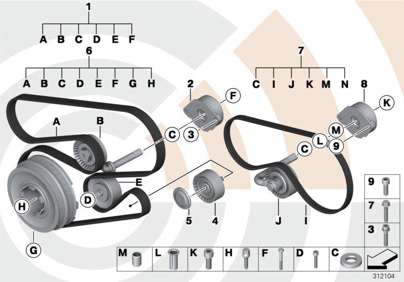 Repair kit, belt drives, Value Line