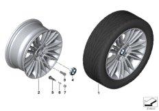 BMW LA wheel, multi spoke 456 - 17''