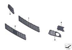 M trim panel, trim elements, front