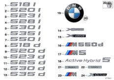 Emblems / letterings