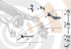 Repair kits, control arms/wishbones