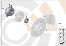 Repair kit, wheel bearing, rear