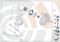 Repair kit, wheel bearing, front
