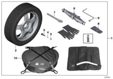 Compact spare-wheel system
