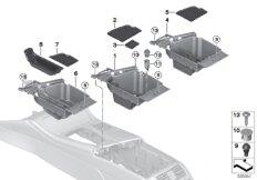 Storage compartment, centre console