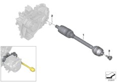 Electric gearbox, output shaft