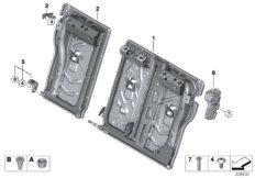 Seat, rear, seat frame, basic seat
