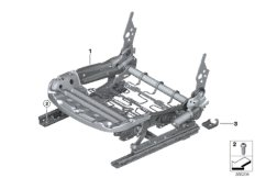 Seat, front, seat frame, electrical