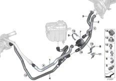 Coolant hoses / electr. coolant pump