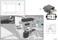 Relay, gun mount K424