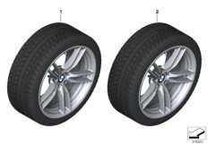 Winter wheel and tyre M V-spoke 641M