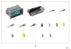 Repair kit, socket housing, 12-pin