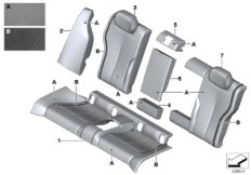 Individual cover, leather, seat, rear