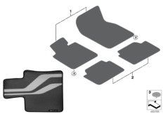 M Performance floor mats