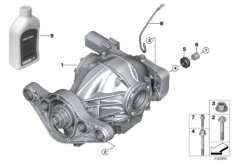 Rear axle differential / add-on parts