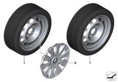 Winter wheel & tyre, steel