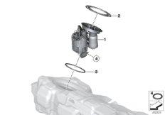 Fuel filter/pump/fuel level sensor