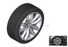 Winter wheel&tyre double spoke 609