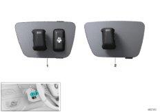 Switch, steering-column adj./heating