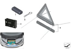 Toolkit/warning triangle/first-aid kit