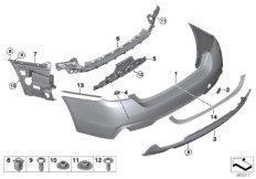 M trim panel, rear