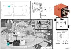 Relay, electr. vacuum pump K213