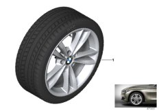 Winter wheel & tyre V-spoke 658
